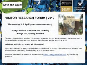 Visitor Research Forum 2019 @ Taronga Institute of Science and Learning